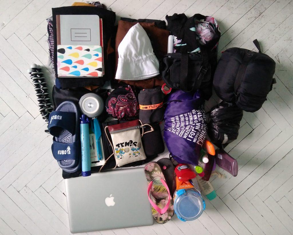 Rzeczy, które spakowałam do plecaka