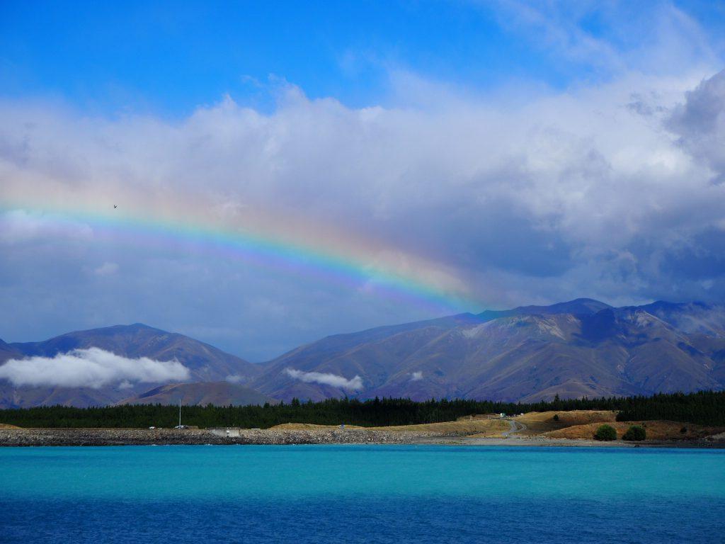 Pukaki Lake. New Zealand.
